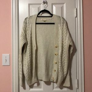 Olive & Oak Cream Knit Cardigan